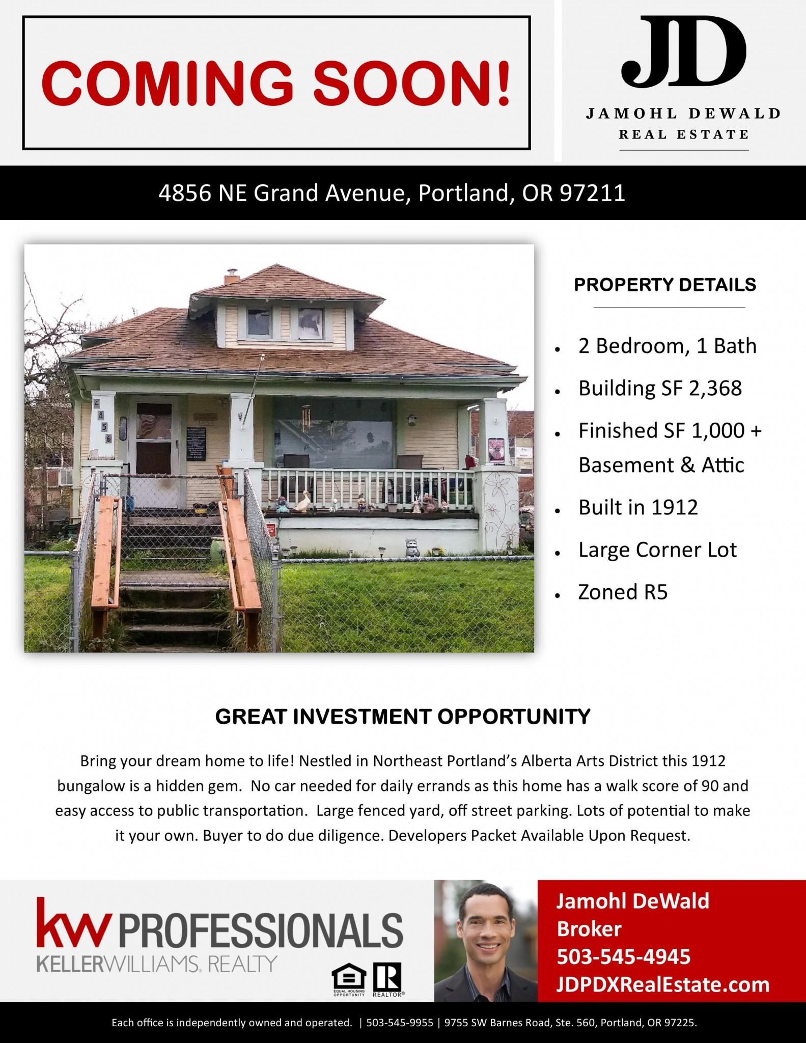 Coming Soon 4856 NE Grand Ave Alberta Arts District