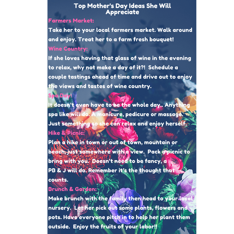 5 Mother's Day Ideas